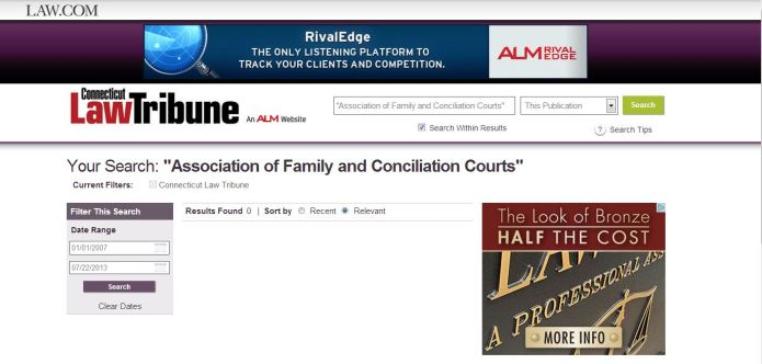Law.com AFCC search results