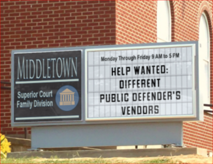 Sign Public Defender's Vendors