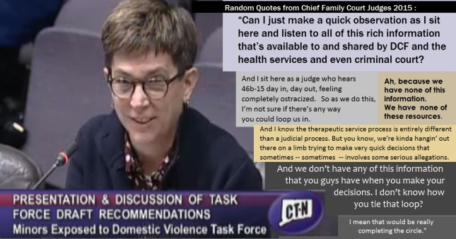 block quote CT Chief Justice No Resources in abuse cases